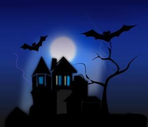 Haunted-House-with-Bats